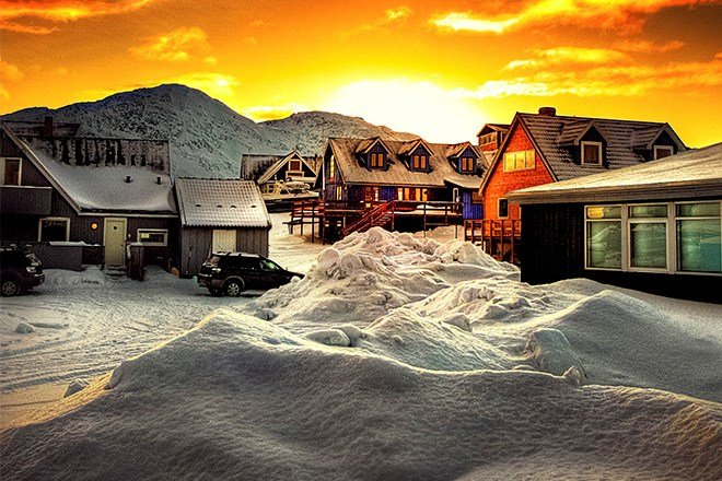 Северни мисли. Залез над Гренландия.