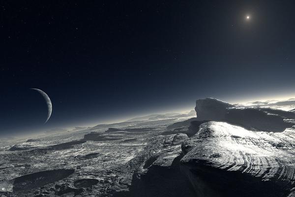 Гледка от Плутон