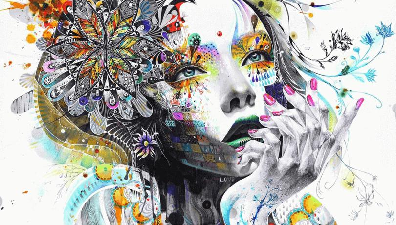 Абстрактна картина - какъв цвят е душата ти