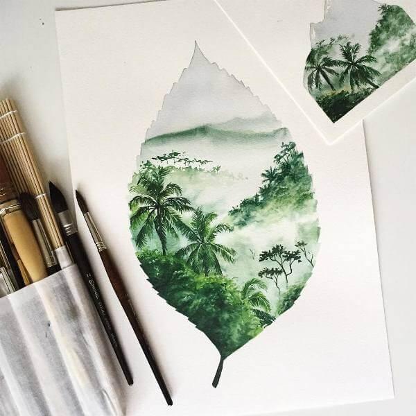 Лист - земя