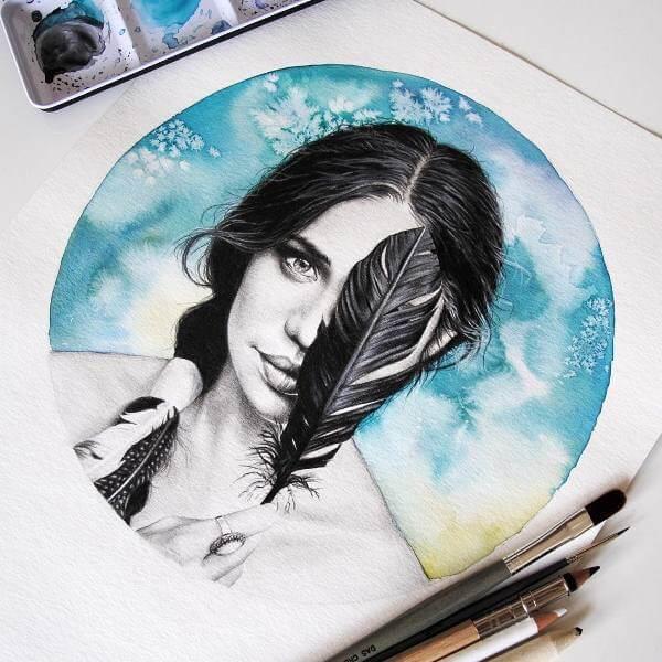 Портрет с перо