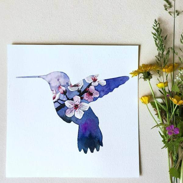 Колибри и цветя